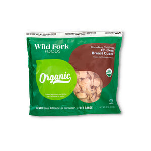 Organic Chicken Breast Cubes Packaging