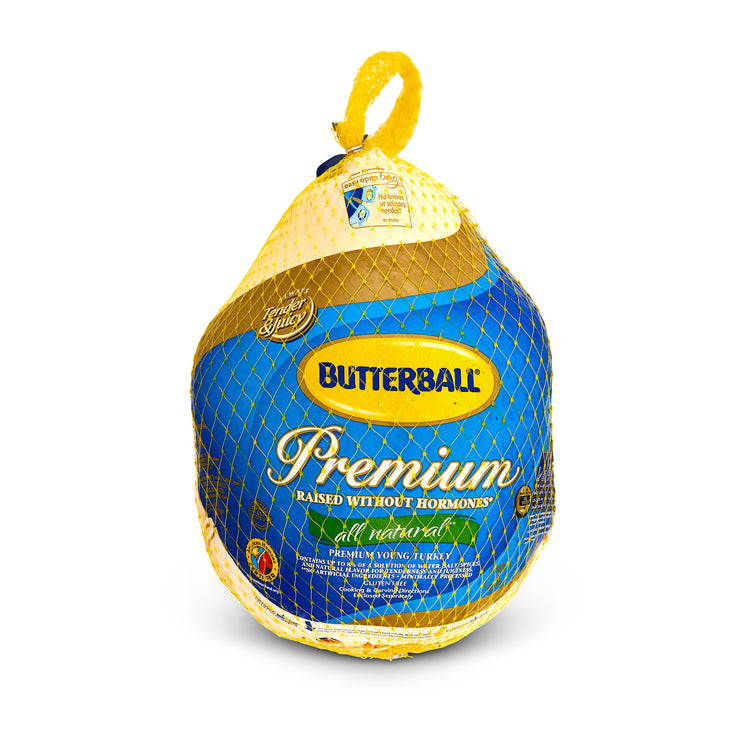 Whole Young Turkey - Whole Young Turkey Enhanced up to 8% solution* - Butterball in package