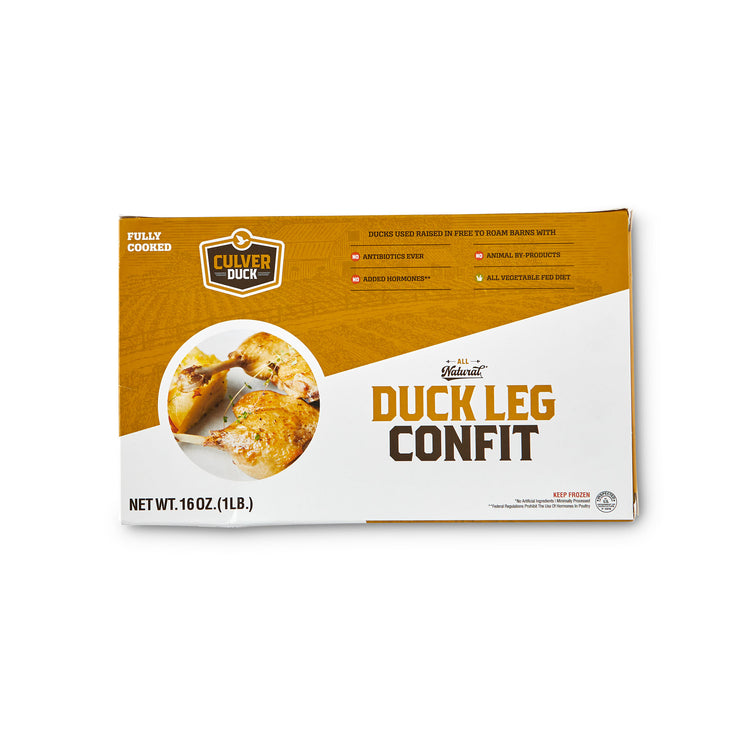 Fully Cooked Duck Leg Confit -  Culver Duck Farms - Fully Cooked Duck Leg Confit - Culver Duck Farms Package