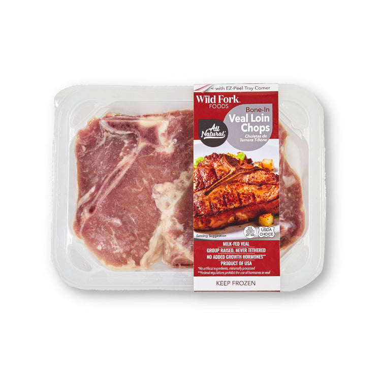 Bone-In Veal Loin Chops - Bone-In Veal Loin Chops in package