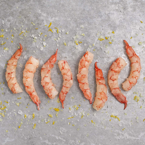 Raw Peeled & Deveined Tail Off Large Argentine Red Shrimp - Argentine Red Shrimp