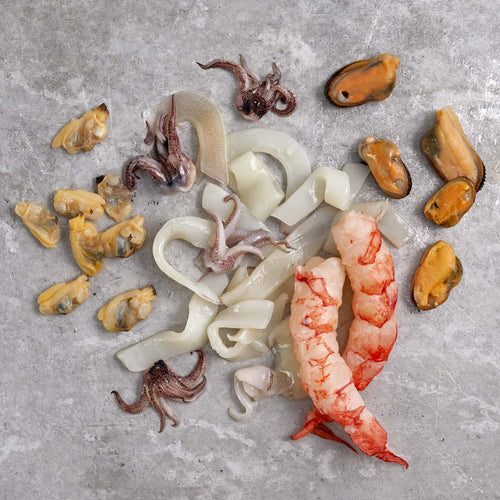 Seafood Mix for Rice & Pasta - Seafood Mix Without Shells