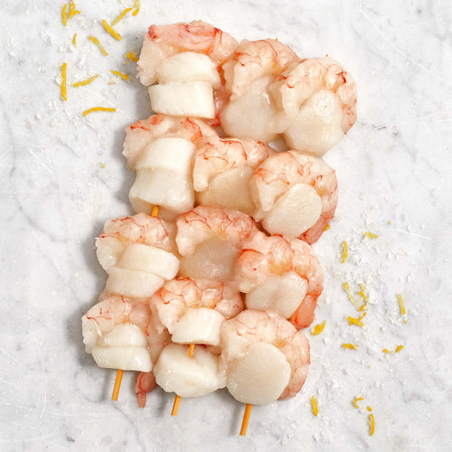 Shrimp and Scallop Skewers - Shrimp and Scallop Skewers