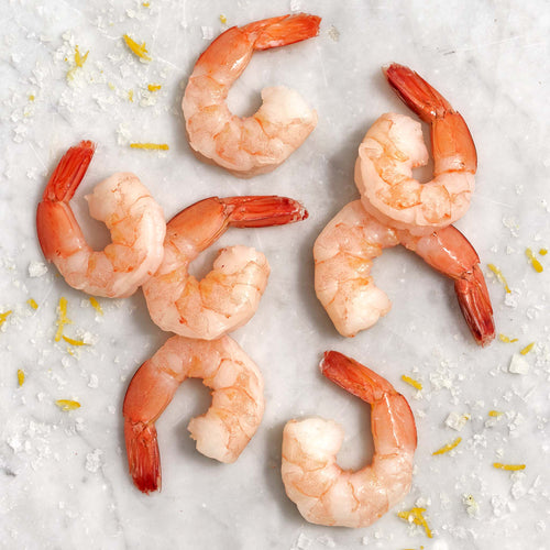 Cooked Shrimp 16/20 Shell Off; Tail On - Cooked Shrimp 16/20 Shell Off; Tail On