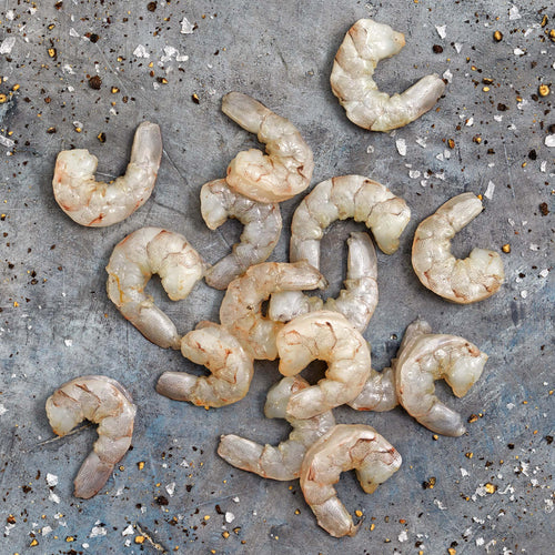 Raw Peeled & Deveined Medium Shrimp 51/60 Tail Off