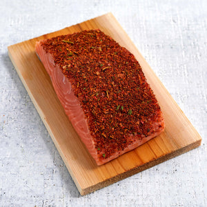 Blackened Atlantic Salmon Over Cedar Plank