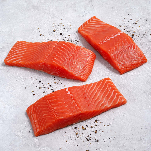Skin-On Sockeye Salmon Fillets - Skin-On Sockeye Salmon Fillets