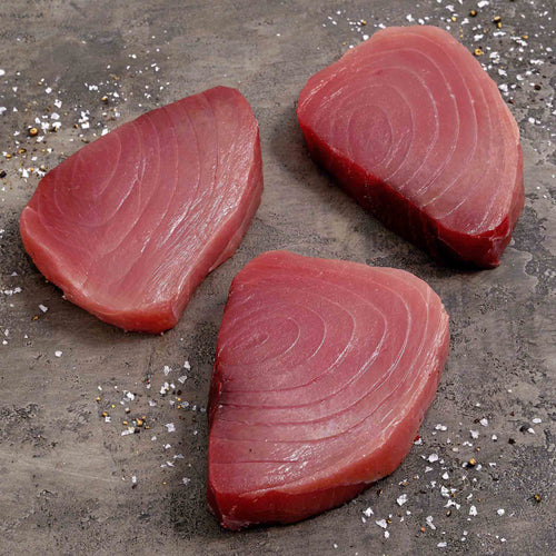 Skinless Yellowfin Tuna Steaks - Skinless Yellowfin Tuna Steaks