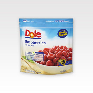 Whole Raspberries - Dole In package