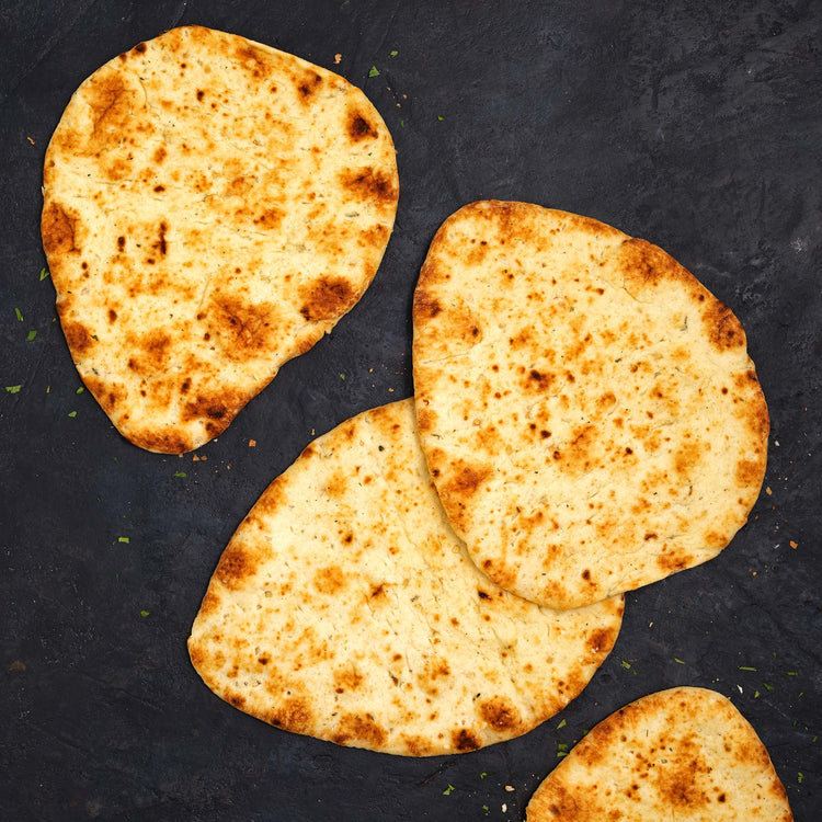Flat Garlic Naan Bread - Stonefire - Flat Garlic Naan Bread - Stonefire