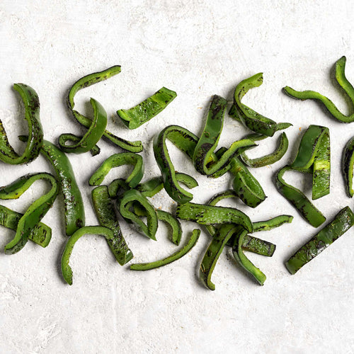 Fire Roasted Poblano Peppers - Heart and Soul