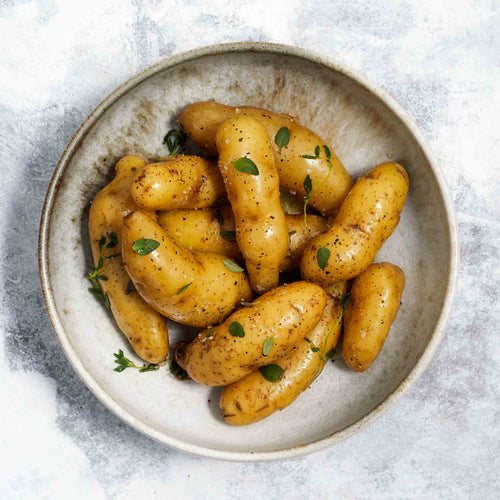 Fingerling Potatoes with Thyme Sprigs