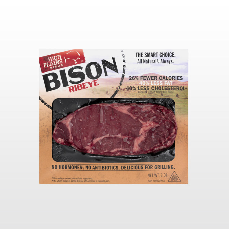 Bison Ribeye Steak - Bison Ribeye Steak - In package