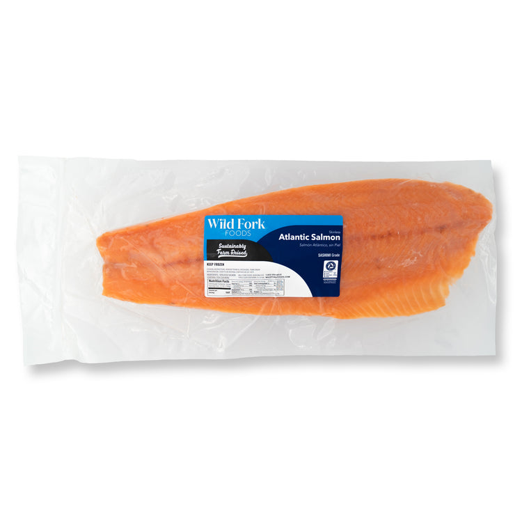 Skinless Sashimi Grade Atlantic Whole Salmon Fillet - Skinless Sashimi Grade Atlantic Whole Salmon Fillet Packaging