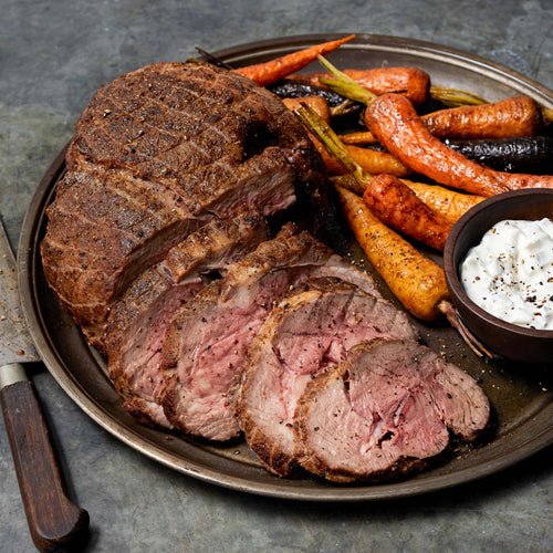 Free Range Boneless Lamb Leg Roast - Boneless Lamb Leg Roast with Raita and Garam Masala Carrots