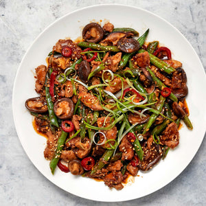 Chicken Stir Fry  With Shiitake and Green Beans