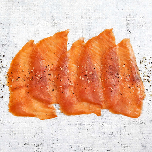 Garlic & Pepper Seasoned Smoked Salmon