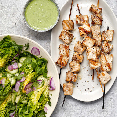 Skinless Swordfish - Grilled Swordfish  with Green Goddess Salad