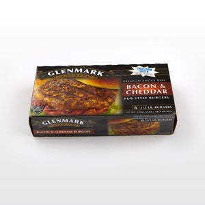 Bacon & Cheddar Beef Burgers - Glenmark Package
