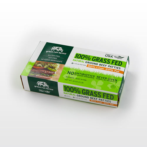 Grass Fed Patties - Grass Run Farms - Grass Fed Patties - Grass Run Farms Package