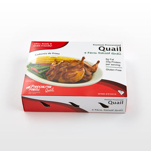 Preseasoned Quail Breasts - Manchester Farms - Preseasoned Quail Breasts - Manchester Farms Package