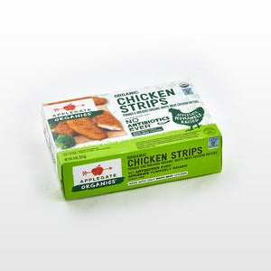 Fully Cooked Organic Chicken Strips - Applegate Package