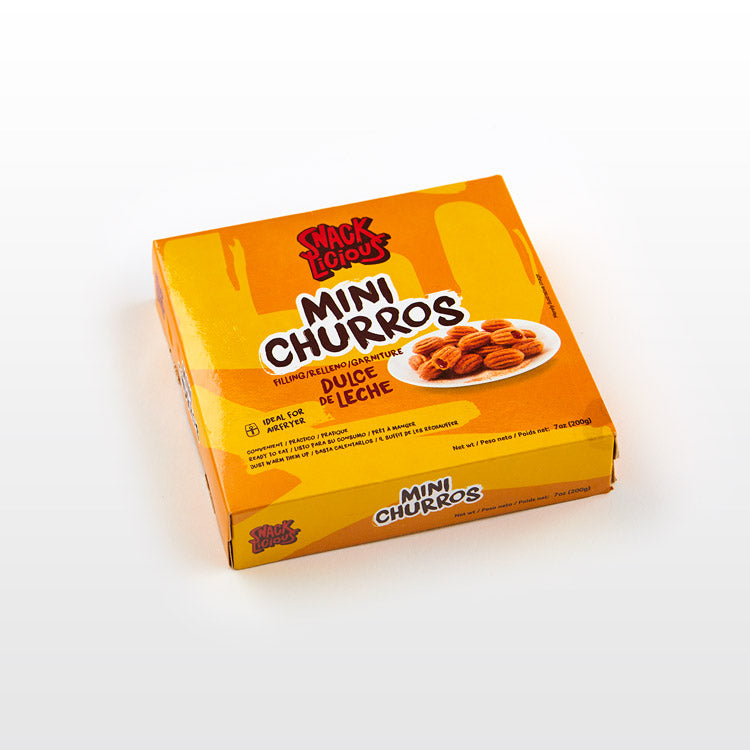 Mini Dulce de Leche Churros - Snacklicious - Mini Dulce de Leche Churros - Snacklicious Package
