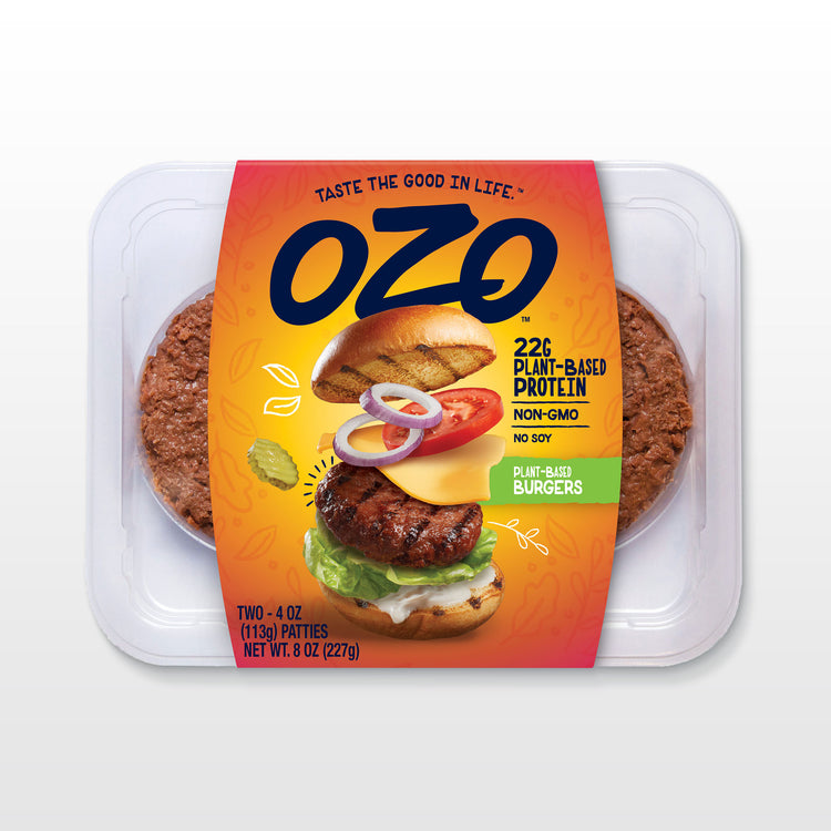 Plant Based Burger Patties - Plant-Based Protein Patties - OZO packaging