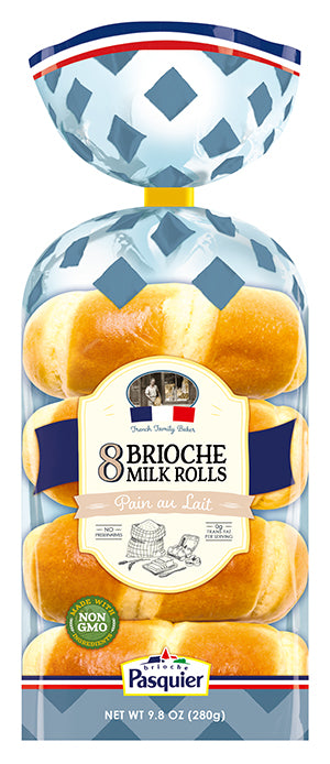 French Milk Rolls - Brioche Pasquier Packaging