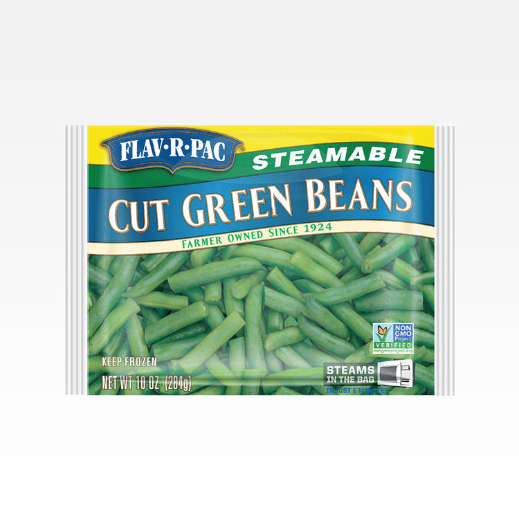 Steamable Cut Green Beans - Flav-R-Pac - Steamable Cut Green Beans - Flav-R-Pac - Package