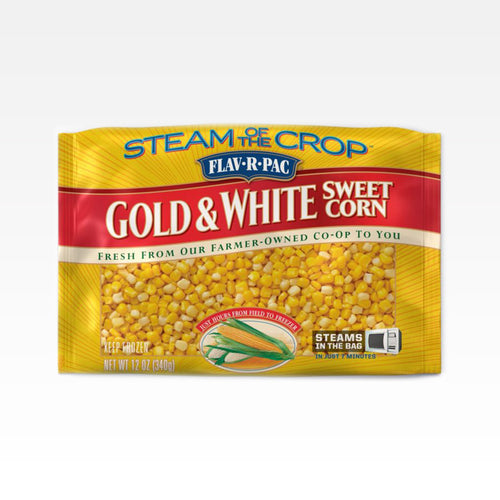 Steamable Golden & White Corn - Flav-R-Pac - Steamable Golden & White Corn - Flav-R-Pac - Package