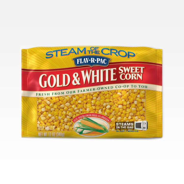 Steamable Golden & White Corn - Steamable Golden & White Corn - Flav-R-Pac - Package