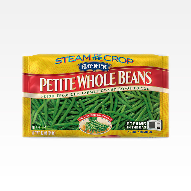 Steamable Petite Whole Green Beans - Flav-R-Pac - Steamable Petite Whole Green Beans - Flav-R-Pac - Package