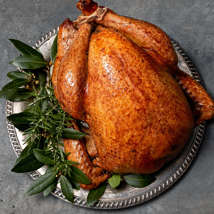 Whole Young Turkey - Aromatic Roast Turkey   with Bourbon Peppercorn Gravy