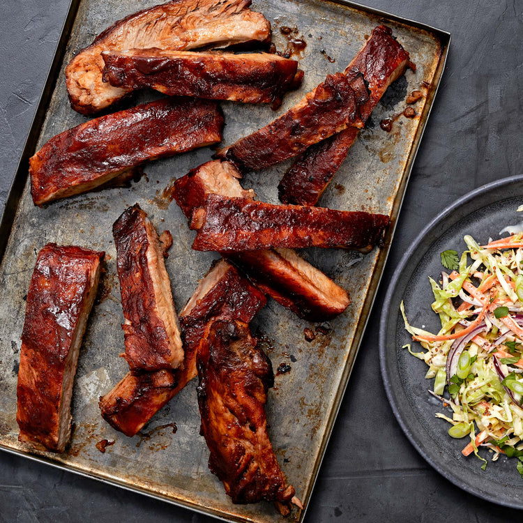 Pork Spare Ribs St. Louis Style - Oven-Baked St. Louis Style Ribs  with Tangy Style