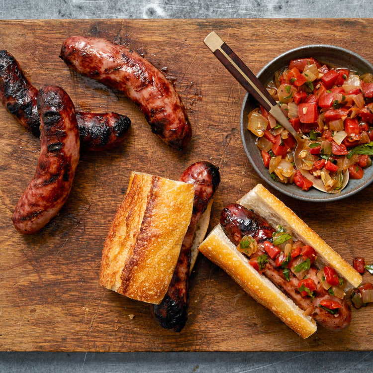Mild Italian Sausage - Grilled Sausages with pepper relish