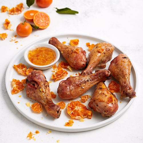 Spicy Mojo Seasoning - Baked Chicken Drumsticks with Tangerine Glaze