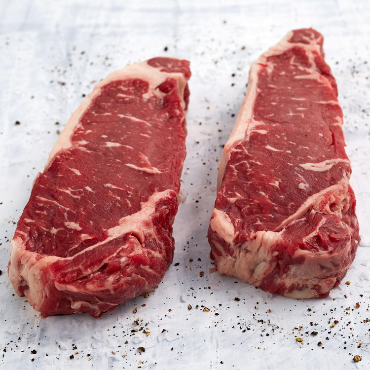Black Angus Beef Thick New York Strip Steak - Black Angus Beef Thick New York Strip Steak