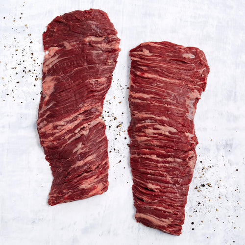 Beef Outside Skirt Steak - USDA Choice Antibiotic Free Grass Fed Boneless Beef Outside Skirt