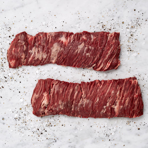 Grass Fed Beef Outside Skirt Steak - USDA Choice Grass Fed Boneless Peeled Outside Skirt Steak