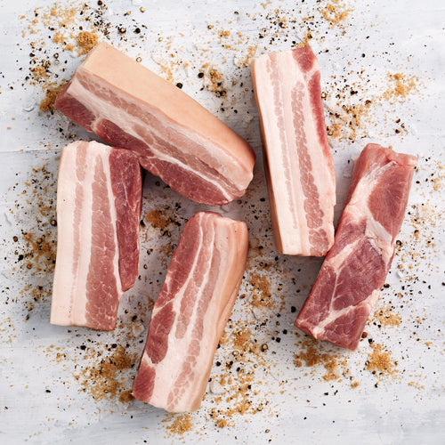 Skin-On Pork Belly Strips