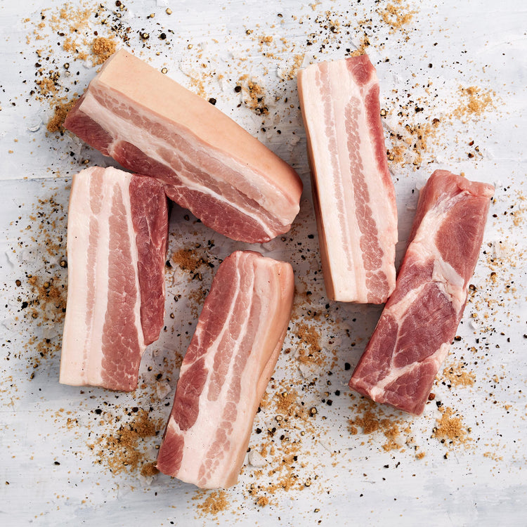 Skin-On Pork Belly Strips - Skin-On Pork Belly Strips
