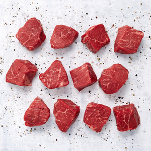 USDA Choice Black Angus Bonless Beef Sirloin Cubes