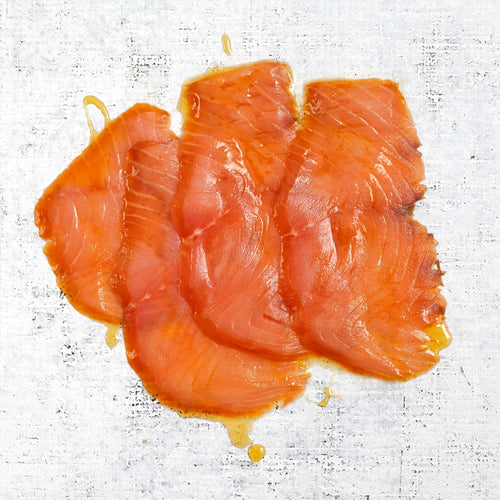 Whiskey & Honey Seasoned Smoked Salmon Raw
