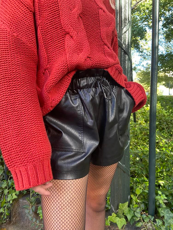 Lost on You Leather Shorts - E V O L V E