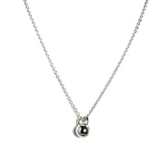 Tiny Kettlebell Necklace in Sterling Silver