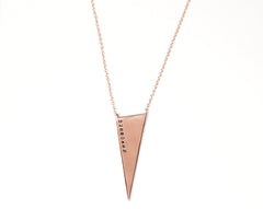 Unbroken Triangle Charm Necklace in Rose Gold