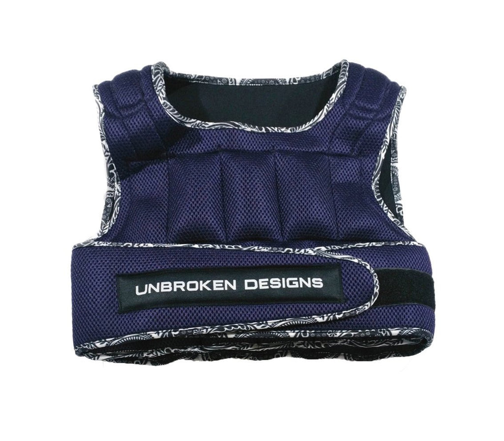 Purple Mesh with Paisley Print 9kg Weight Vest