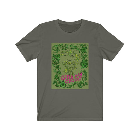 Masc Fit / Unisex - Green Man Grogg - Throwback Tee