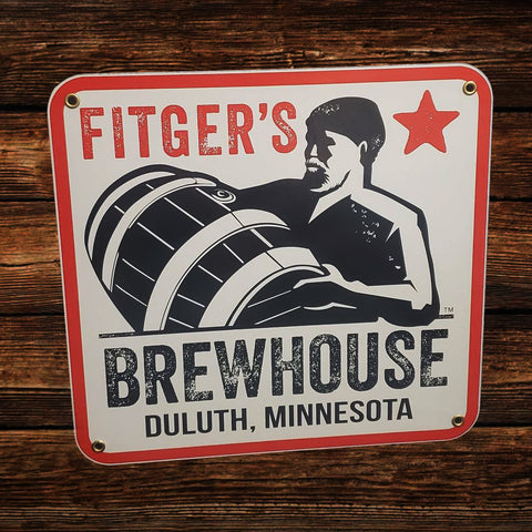 "Fitger's Brewhouse Sign - Porcelain on Steel (11.5"" x 11"")"